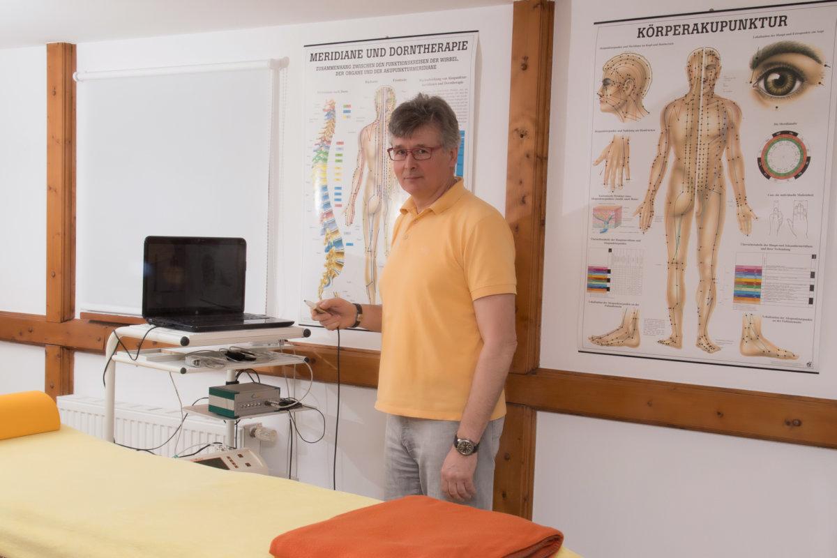 Meridiandiagnostik in der Naturheilpraxis Andree Reuter